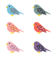 set of colorful ornamental birds vector image