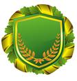 shield green vector image