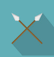 spear icon flat style vector image