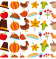 thanksgiving celebration holiday festive seamless vector image