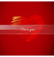 Valentine heart Background vector image