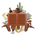 Cowboy Saloon Concept vector image