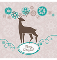 Background with Christmas reindeer vector image vector image