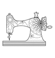 Coloring sewing machine vector image
