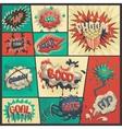 set of comics icons vector image