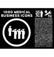 Army Squad Rounded Icon With Medical Bonus vector image