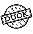 Duck rubber stamp vector image