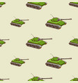 military tank seamless pattern vector image