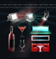 night club set vector image