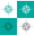 detailed set compass windrose isolated on white vector image