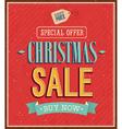 Christmas sale typographic design vector image
