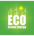 Green energy with wind turbines vector