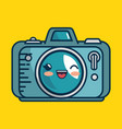 camera photographic character handmade drawn vector image