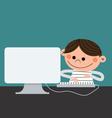 computer kid vector image