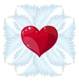 Cross heart and wings vector image