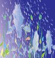 flowers under rain vector image