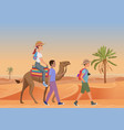 man walking with guide and vector image