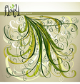Modern style floral background vector image