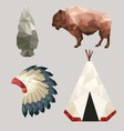 Native American Icons vector image