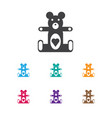 of infant symbol on teddy icon vector image