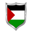 Palestine flag button vector image