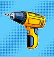 screw gun comic book style vector image