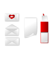 set of envelope and paper vector image