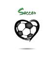soccer ball shaped as a heart vector image