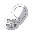 sticker contour face cartoon gesture with dialogue vector image