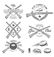 Vintage clay target labels emblems design elem vector image