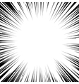 Manga comic book flash explosion radial lines vector image
