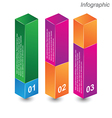 Infographic in the form of a 3D box vector image