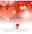 Elegant red background with hearts and place for vector image vector image