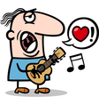 Man singing love song for valentines day vector image