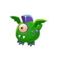 Green Fantastic Friendly Pet Dragon With One Eye vector image