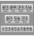 Countdown clock timer vector image vector image