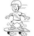Cartoon Skateboard Boy vector image