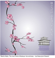 spring flowering branch with japanese haiku and ta vector image vector image