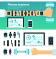 Fitness Trackers Virtual Coach Gadgets vector image