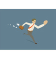 businessman in a hurry vector image