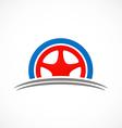 car tyre automotive logo vector image