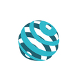 globe sphere orbit communication logo vector image