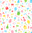 Party fun seamless pattern vector image