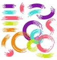Rainbow brush strokes collection vector image
