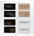 Set of Business Cards with Leather Background vector image