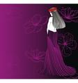 women strip pink vector image