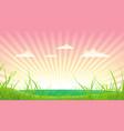 spring or summer landscape vector image