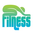 fitness sign vector image