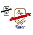 Tailor or sewing emblem vector image vector image