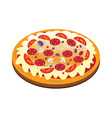 appetizing pizza vector image vector image